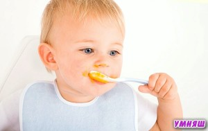 учим ребенка есть
